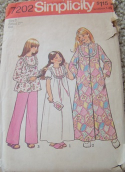 Simplicity 7202, childrens dress pattern