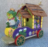 Mardi Gras Birdhouse, Backwater Studio, Folk Art, Mississippi