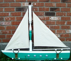 Sailing Boat Coat Rack,, Backwater Studio, Folk Art, Mississippi