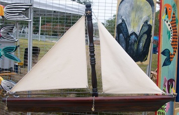Sail Boat, Backwater Studio, Mississippi, Folk Art, Resourced Materials, Kathleen Johnson
