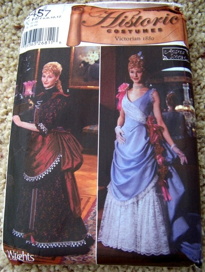 Butterick 5457, Historical Costume, Victorian 1880, Backwater Studio