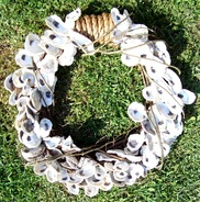 Oyster Shell Wreath, Backwater Studio, Pass Christian, Folk Art, Mississippi