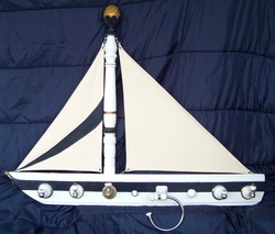 Schooner Coat Rack, Backwater Studio, Folk art, Mississippi, Kathleen Johnson.