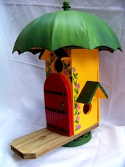 Fairy Garden Umbrella Bird House, Backwater Studio, Folk Art, Mississippi