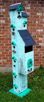Backwater Studio, Folk Art, Six Foot Birdhouse, Mississippi, Kathleen Johnson