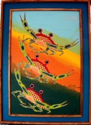 Crabing On Up, Backwater Studio, Folk Art, Mississippi, Kathleen JohnsonPicture