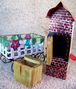 Fairy Garden Bird House, Mobile Home Bird House, Backwater Studio, Kathleen Johnson, Mississippi, Folk Art, Waveland.