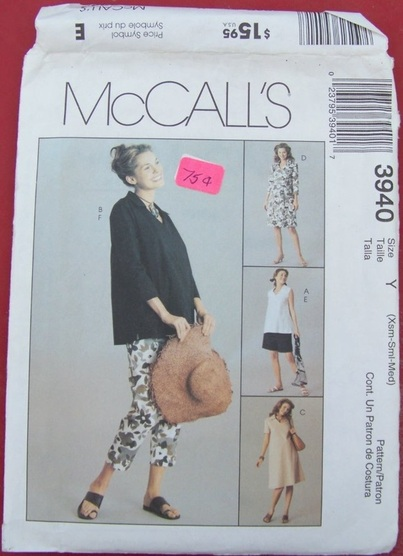 McCalls 3940, Sewing Pattern, Backwater Studio