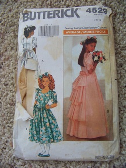 Butterick 4529, Childs dress pattern, Backwater Studio