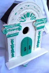Greek Arch Birdhouse, Backwater Studio, Mississippi, Folk Art, Kathleen Johnson