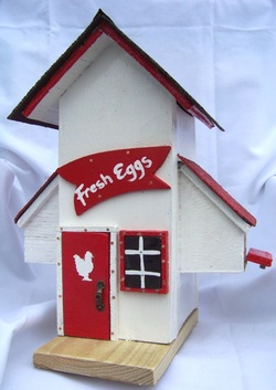 Chicken House Birdhouse, Backwater Studio, Mississippi, Folk Art, Kathleen Johnson