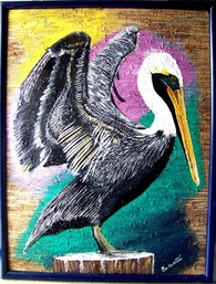 Backwater Studio, Folk Art, Mississippi, Bohemian Gallery, Purple Pelican, Kathleen Johnson