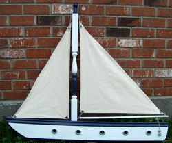 Wall Boat, Sailing Boat,, Backwater Studio, Folk Art, Mississippi