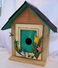 Spring Birdhouse, Backwater Studio, Folk Art, Mississippi