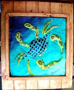 Backwater Studio, Fiesta Crab, Folk Art, Mississippi, Kathleen Johnson