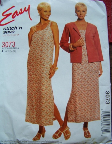 McCalls Easy 3073, Sewing Pattern, Backwater Studio
