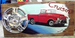 Cruisin Buick, Backwater Studio, Mississippi, Folk Art, Kathleen Johnson