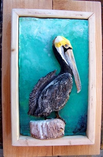 Pelican, Backwater Studio, Mississippi, Folk Art, Kathleen Johnson