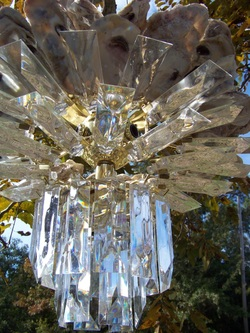 Oyster Shell Crystal Chandelier, Backwater Studio, Folk Art, Mississippi, Kathleen Johnson, upcycled