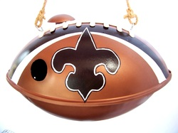 Faux Saints Football Birdhouse, Backwater Studio, Folk Art, Mississiippi, Kathleen Johnson