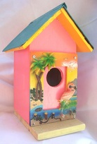 Seeing PInk Bird House, Backwater Studio, Folk Art, Mississippi