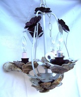 Oyster Shell Chandelier, Backwater Studio, Folk Art, Mississippi, Kathleen Johnson